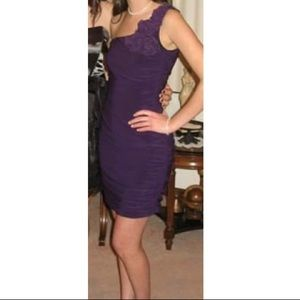 Taboo purple fitted formal dress